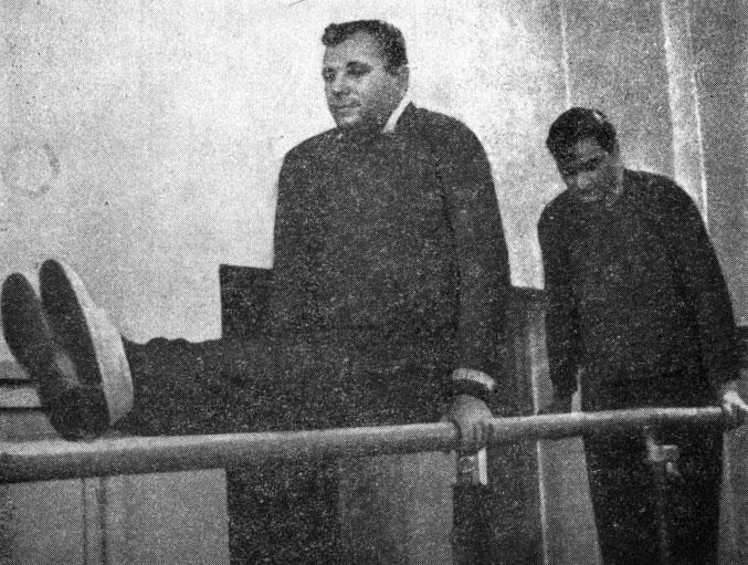 Préparation physique des cosmonautes : Y. Gagarine et G. Titov